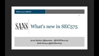 What's New In SEC575 Mobile Device Security And Ethical Hacking?