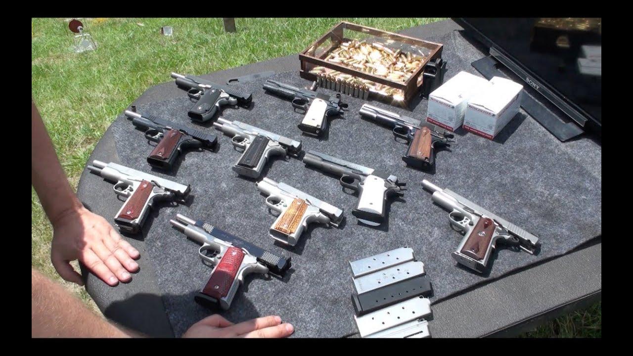 Pistolas 1911 armas de fuego cal 45 en espa ol youtube - Pistola para lacar ...