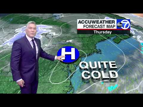 Sam Champion NYC Weather Forecast: Rain And Warm Then Cold And Snow