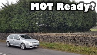 Is the Shed ready for its MOT? - Volkswagen Golf MK4 Project