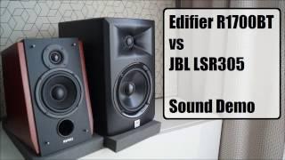 Edifier R1700BT vs JBL LSR305      Sound Demo