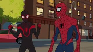 Человек Паук и Человек Паук (Майлз Моралис) против Монстроботов (Человек Паук  1 сезон) (2017)