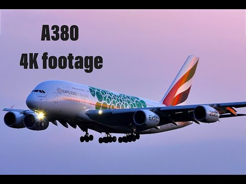"A380 Emirates ""Expo 2020 Dubai"" Livery - BEST Close-Up Landing at MUC, Munich 4K"