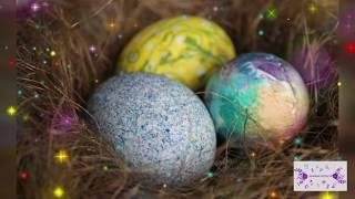 Простой способ как покрасить Пасхальные Яйца/ Красим пасхальные яйца вместе
