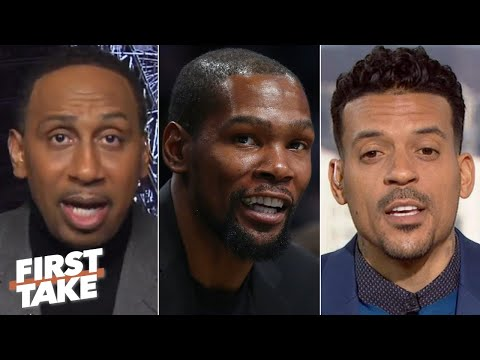 Stephen A. and Matt Barnes discuss Kevin Durant's stance on marijuana in the NBA | First Take