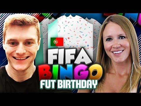 FIFA BINGO!! FUT BIRTHDAY EDITION!! I PACK AWESOME FUT BIRTHDAY CARD!