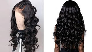loose wave 360 lace wigs brazilian virgin hair|osolovely hair