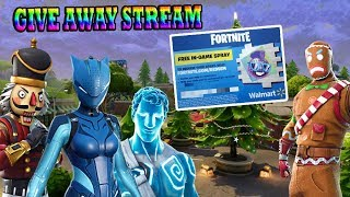 WALMART SPRAY GIVEAWAY!!! FORTNITE (PC) LETS PLAY