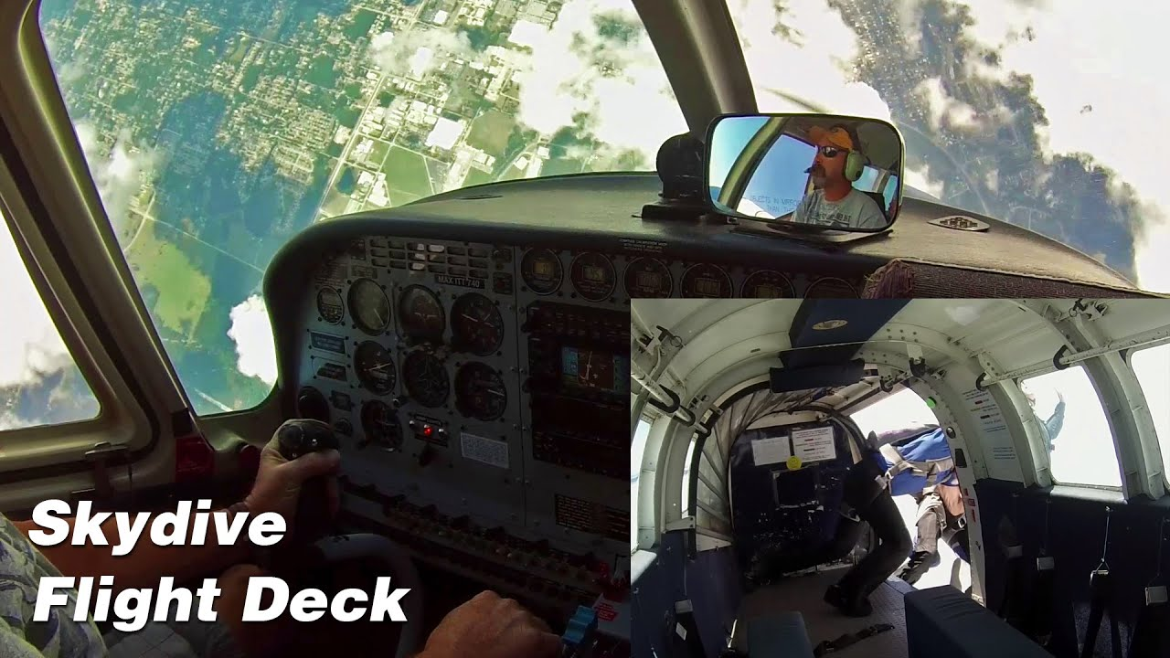 Skydiving Flight - Skydive Deland PAC750, Complete Flight