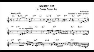 Art Farmer - Whisper Not Trumpet Solo