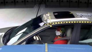 Volvo S80 and full-size pickup side impact crash test by IIHS