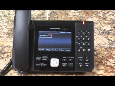 Checking your Voice Mail on a Panasonic KXUTG Phone on ...