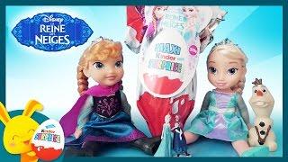 Maxi oeuf surprise Kinder REINE DES NEIGES avec Elsa et Anna - Touni Toys