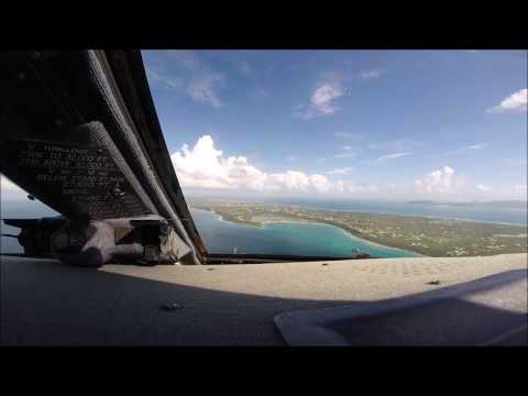 Gulfstream IV-SP Cockpit View Landing Caribbean Island of An
