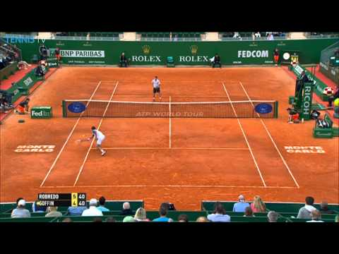 Tommy Robredo Hits Hot Shot Monte-Carlo 2014 Monday