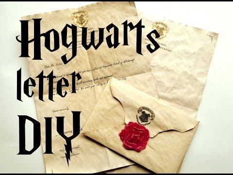 DIY Hogwarts letter - Harry Potter tutorial