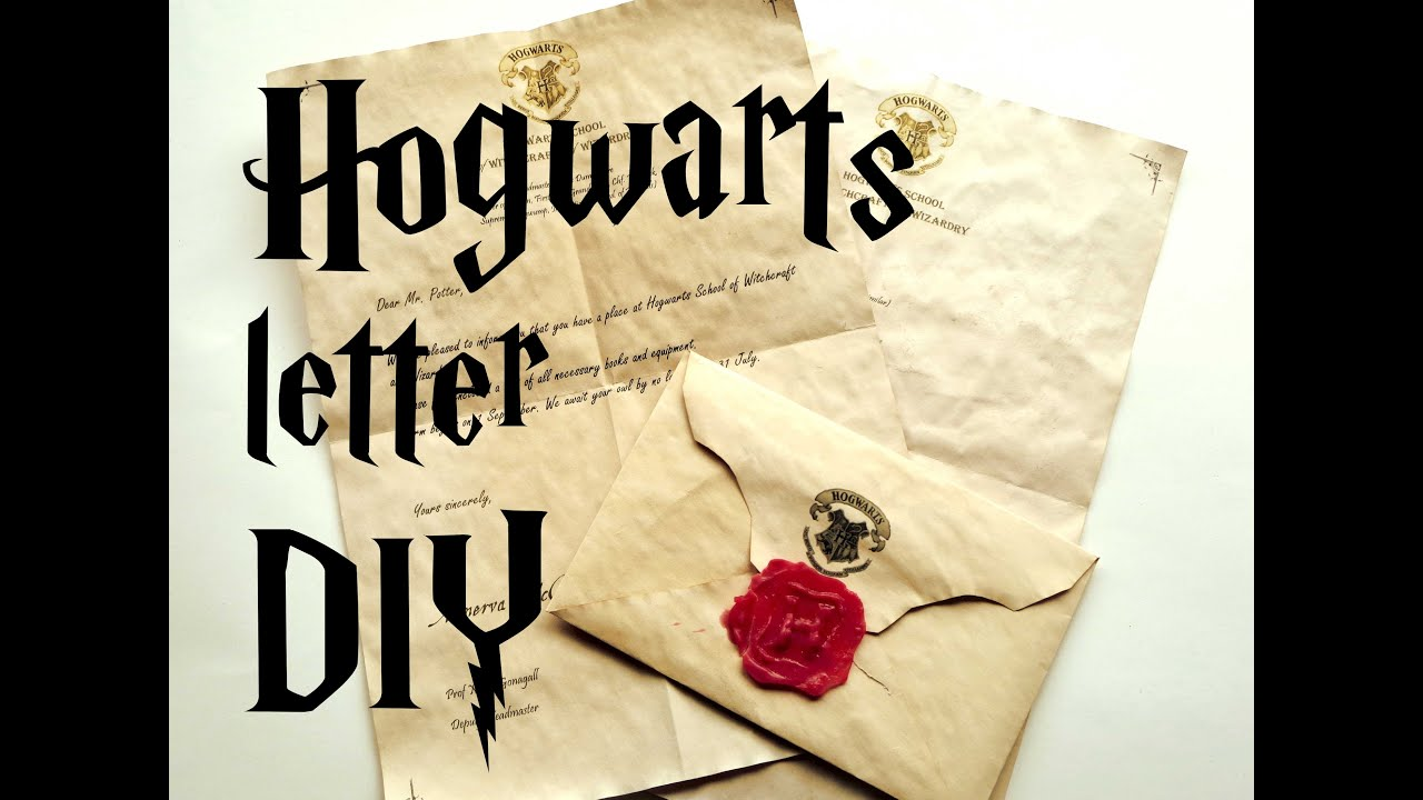 diy hogwarts letter harry potter tutorial