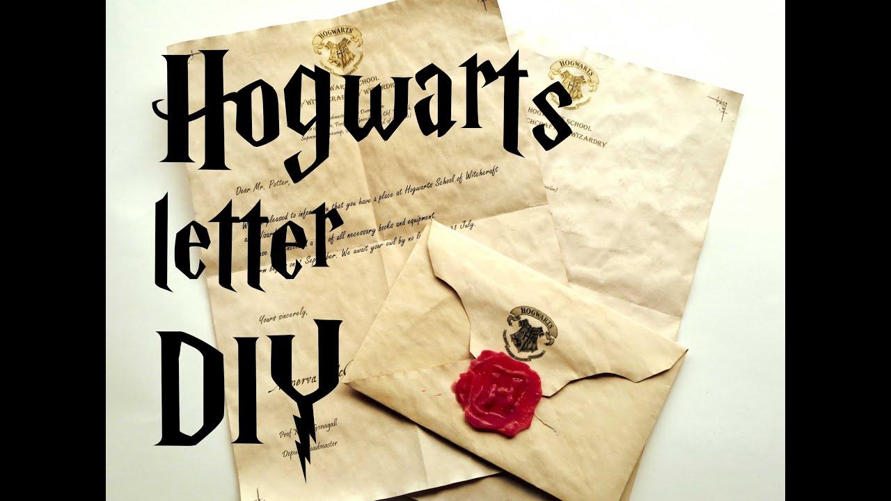 diy hogwarts letter harry potter tutorial