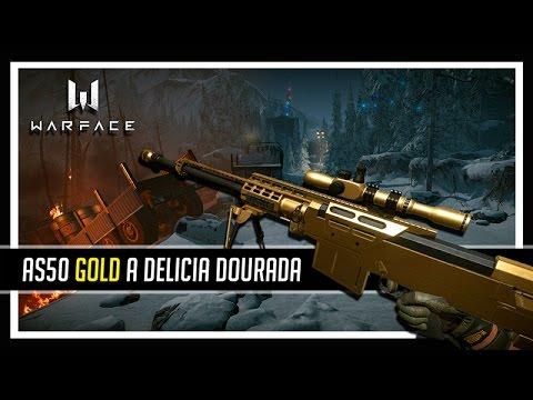 Warface AS50 Gold A Delicia Dourada