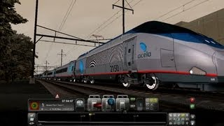 Train Simulator 2013 Game Play Amtrak Acela Express Business Bullet Full Senario HD