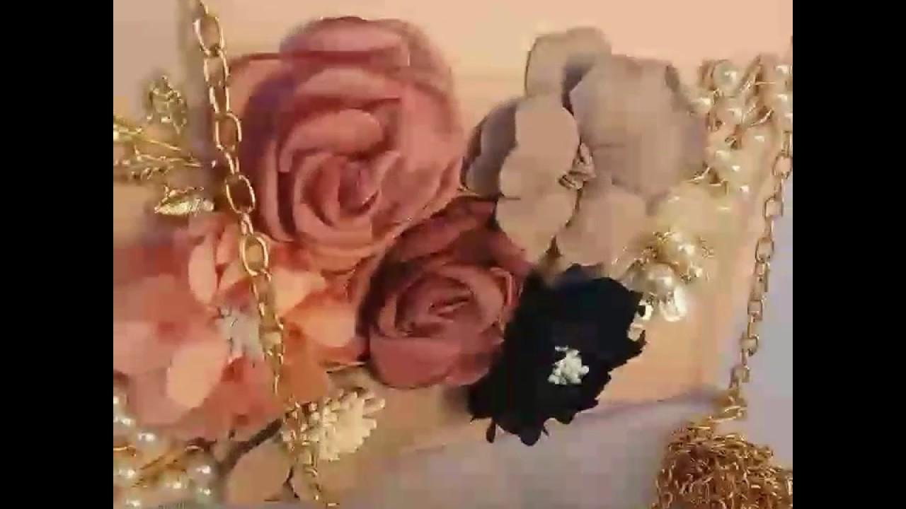32bfc901e bolsa de festa clutch rosa com flores - YouTube
