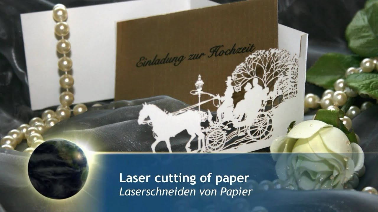 laser cutting invitation cards of paper laserschneiden von einladungskarten aus papier. Black Bedroom Furniture Sets. Home Design Ideas