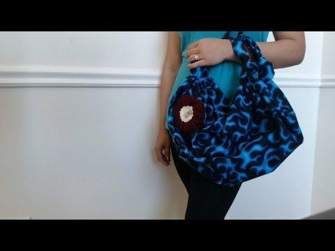 DIY Fashion: No sew handbag in 2 minutes (just 1 yard of fabric 44