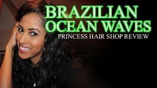 PRINCESS HAIR SHOP BRAZILIAN OCEAN WAVES | MY VERY FIRST CLOSURE!! | WINNERS ANNOUNCED!