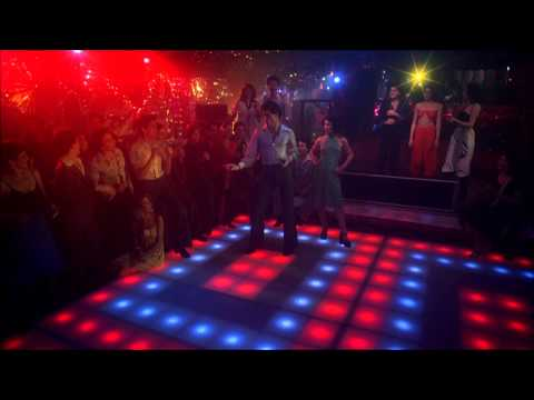 Saturday Night Fever Bee Gees, You Should be Dancing John Travolta HD 1080 with Lyrics