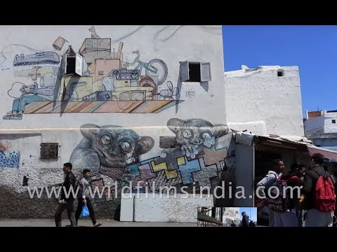Street art tour of Casablanca