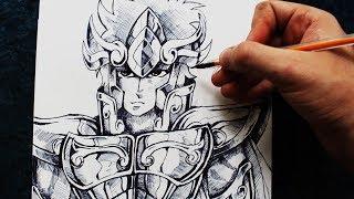 Desenhando Aiolia de Leão com uma caneta BIC [Saint Seiya/CDZ] - (Speed Drawing Aiolia) - GOLD #1