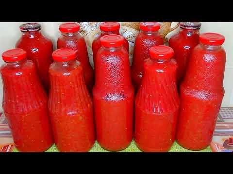 🍅Томат на зиму без уксуса и без стерилизации/Домашний томат в бутылке / Заготовка томата на зиму #54