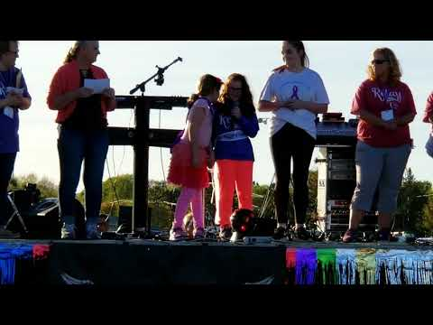 Ellie at 2018 Penobscot County Relay for Life