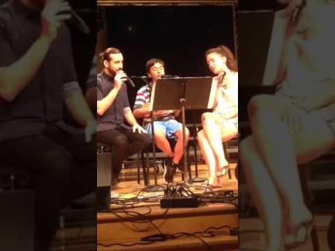 Wes D'Alelio singing with Avi Kaplan from Pentatonix & Erin Bentlage - A Capella Academy LA 2015
