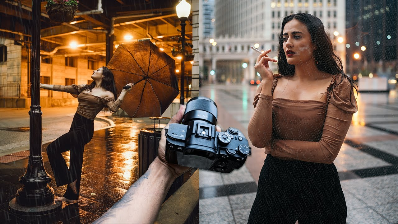 Epic RAIN Portrait Photography in Chicago POV