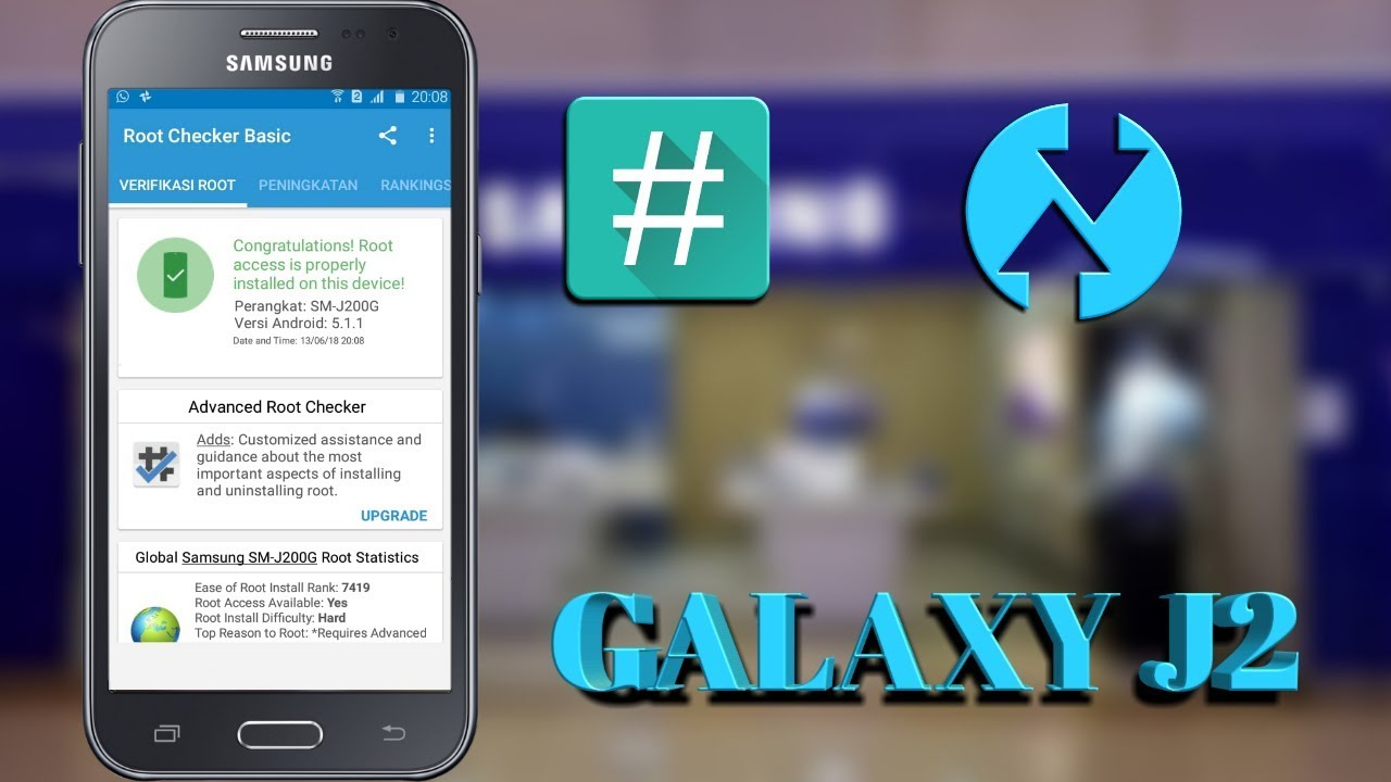 Cara Root dan pasang TWRP GALAXY J2 (SM-J200G) /How To install custom  recovery