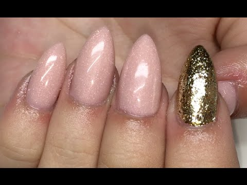 Natural Almond Set Acrylic Nails