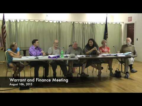 Warrant and Finance - 08-10-2015