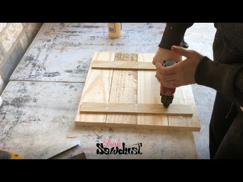 How To Build A Wood Sign - Wood Frame - Wood Canvas - Blank - Video Tutorial