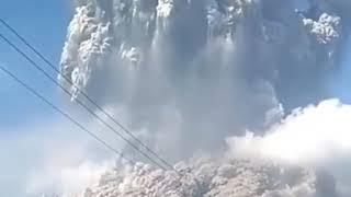 Merapi Mount Volcano in Indonesia