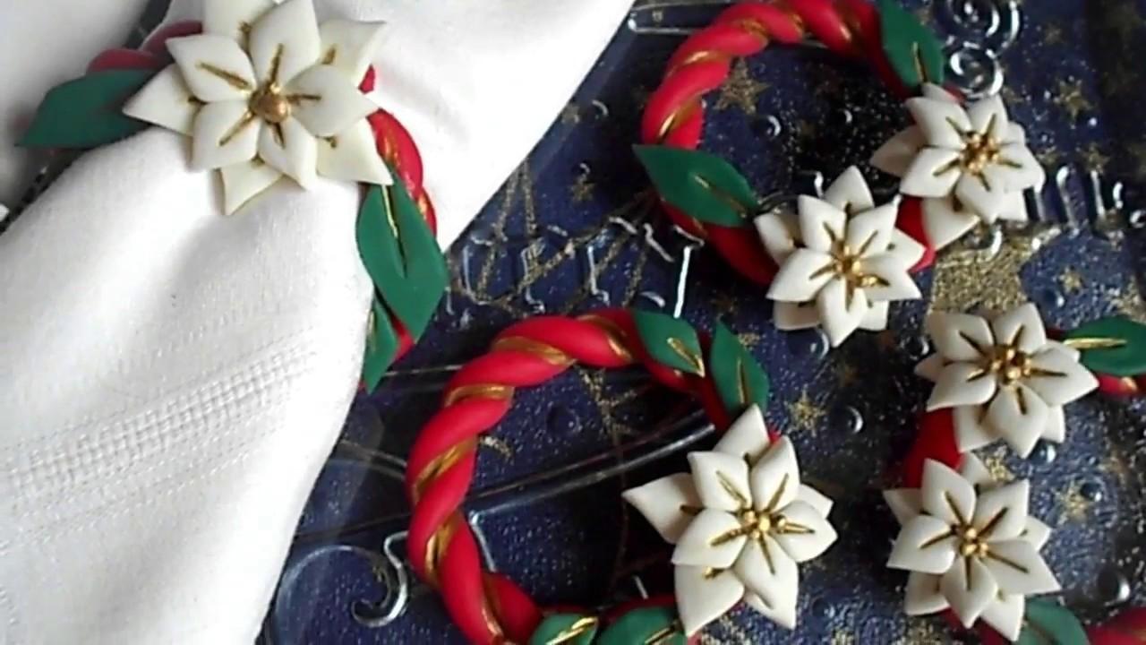 Stella Di Natale In Pasta Di Mais.Stella Di Natale Diy Anello Porta Tovaglioli 1 Youtube