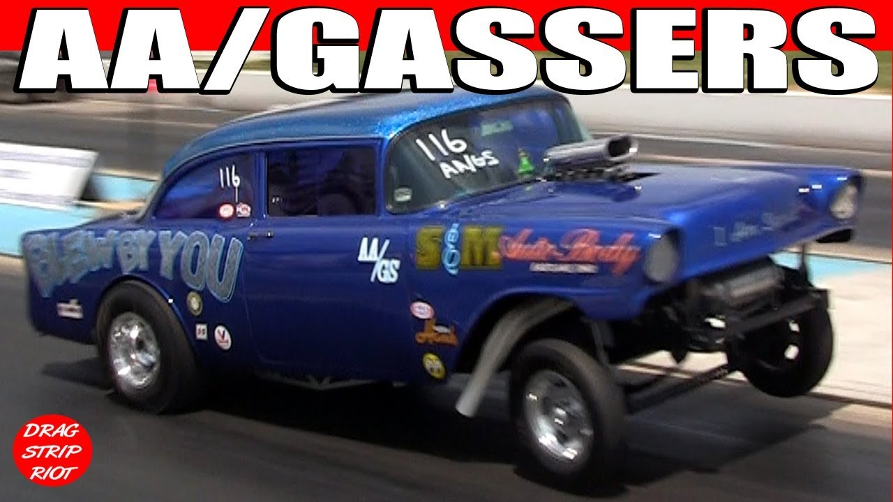 2013 Gasser Reunion Nostalgia AA/Gassers 1/8 Mile Drag Racing Cars Video