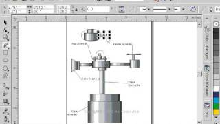 CorelDraw 9 for PC Scenario -freehand tool technical drawing