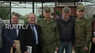 Syria  Belgian delegates visit Hmeymim, thank Russia for  fighting our fight