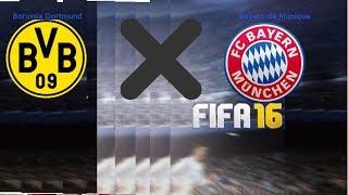 Bayern de Munique x Borussia Dortmund no FIFA 16 pró-contra