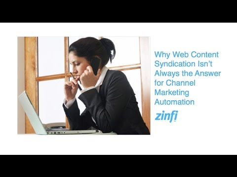 Why Web Content Syndication Isn