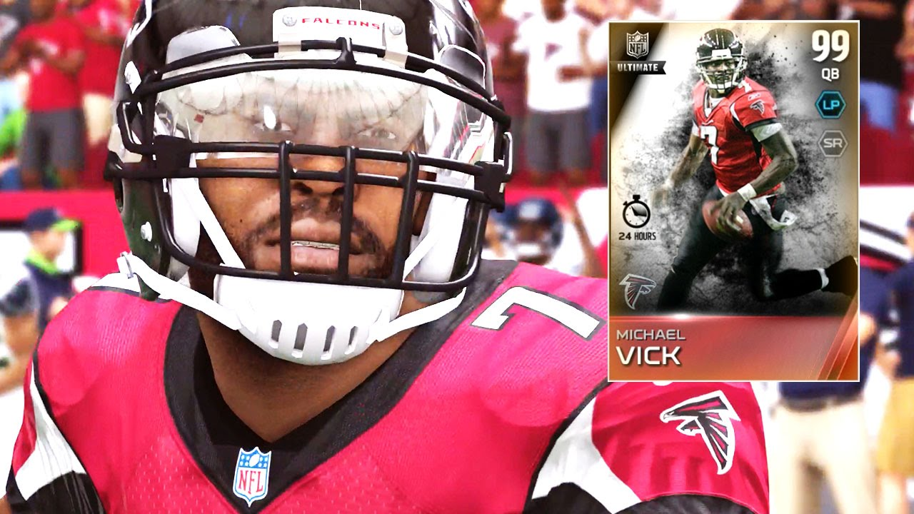 Madden 15 Ultimate Team Gameplay 99 ELITE MikeVick Best QB On MUT 1st Game WMike Vick