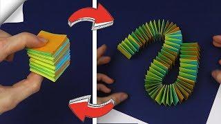 4 DIY crafts easy - Paper toy antistress transformer