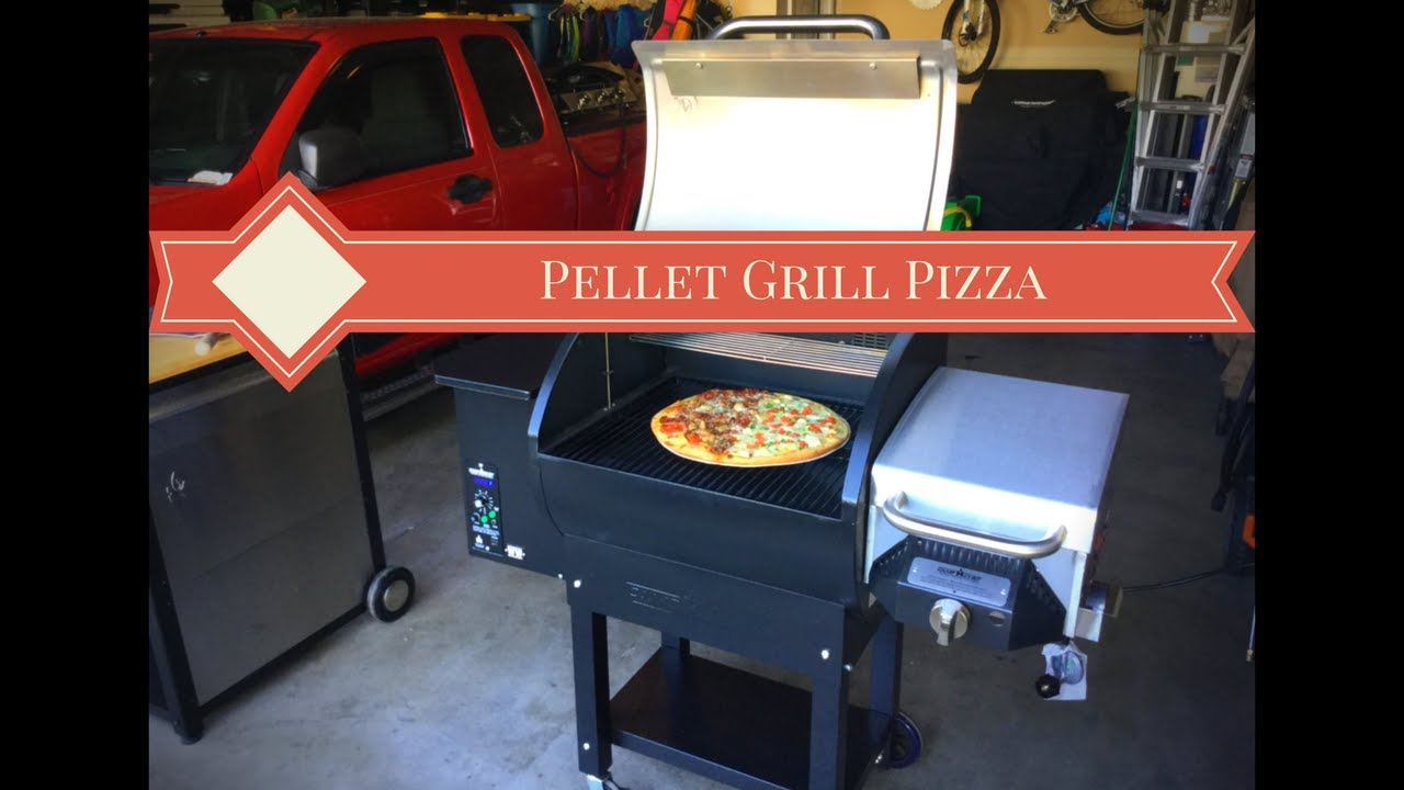 cooking a pizza on a pellet grill camp chef woodwind - Pellet Grill