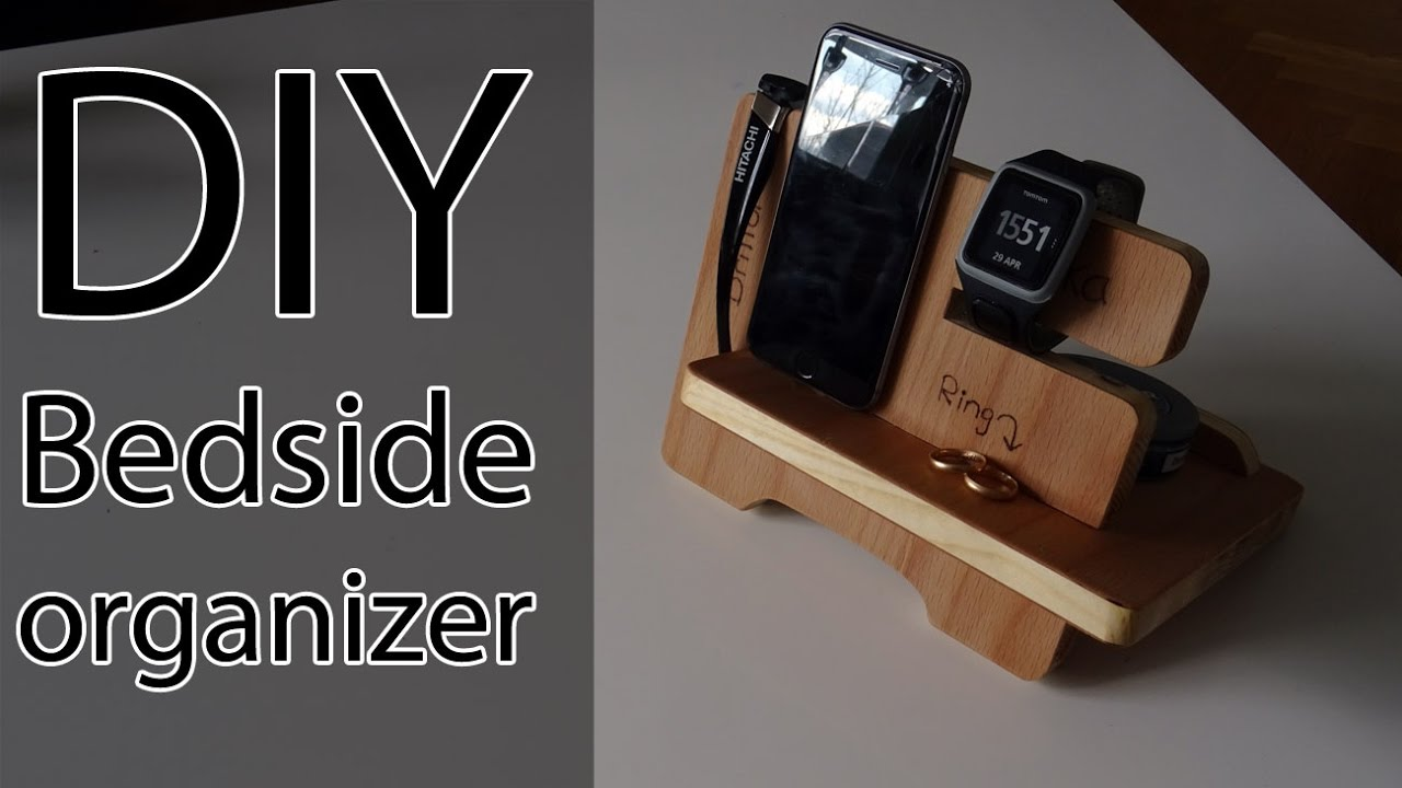 Diy Bedside Organizer Phone Dock Youtube